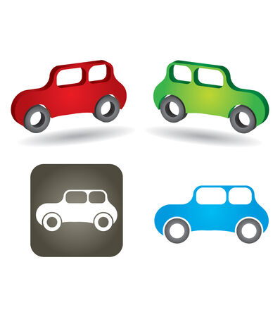 Abstract car icon set on white background  Vector