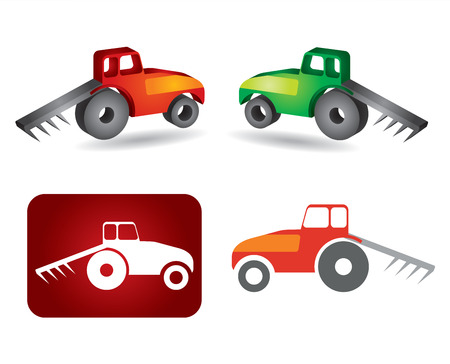 agronomics: Tractor icon - agriculture concept Illustration