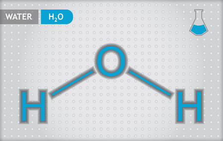 Chemical presentation template for education - water Stock Vector - 27552506