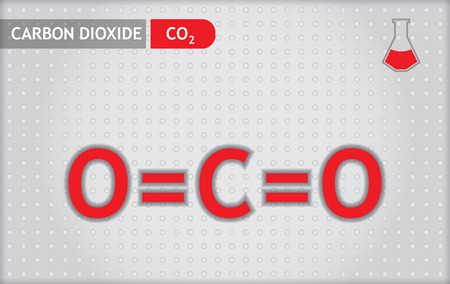 Chemical presentation template for education - carbon dioxide Illustration