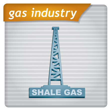 fracking: Presentation template - gas industry illustration with graph Illustration