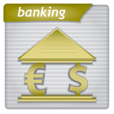 banking concept: Presentation template - banking concept with sign