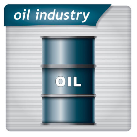 Presentation template - oil industry with barrel Vector