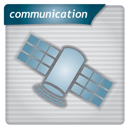 Presentation template - communication concept with satellite sign Vector