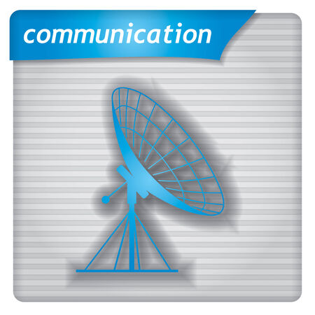 airwaves: Presentation template - communication concept with antenna sign Illustration