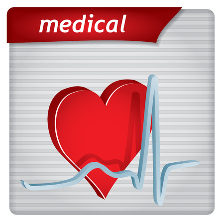 hearth: Presentation template - medical concept with hearth and electrocardiography sign