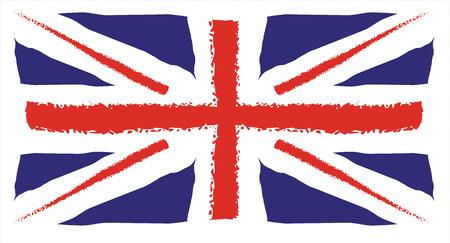 disegno a mano: Disegno Regno Unito Bandiera della mano