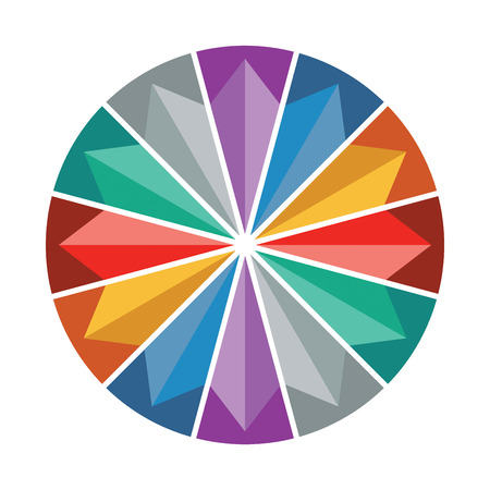 color wheel presentation template with color circle and arrows