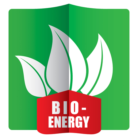 bioenergy: Bioenergy concept with leaf symbol and background