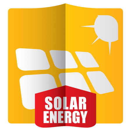 photovoltaics: Solar energy template concept with abstract illustration