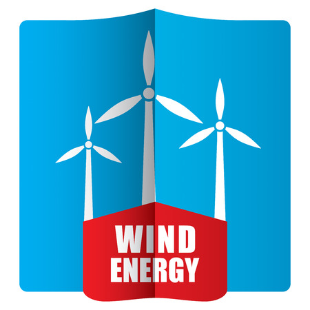 alternative energy sources: Wind power concept, template with abstract illustration