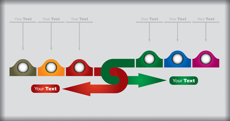 Business concept - flow chart with arrows Vector