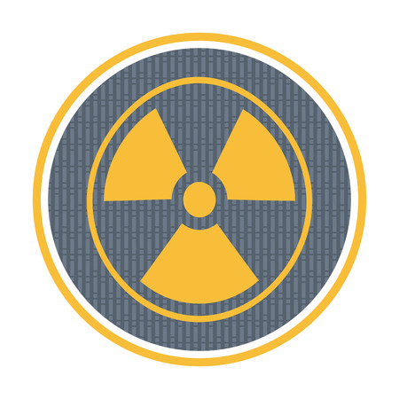 plutonium: Radioactivity icon, industrial concept with abstract background