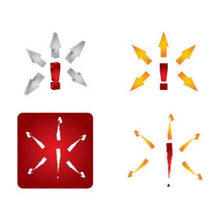 declarative: Exclamation set di icone segno, illustrazione astratto con le frecce