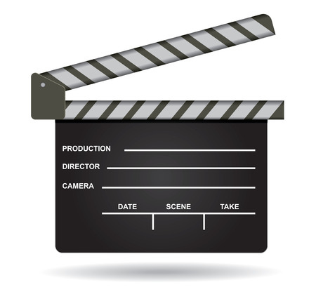 Isolated film clap illustration with copy space area Vector