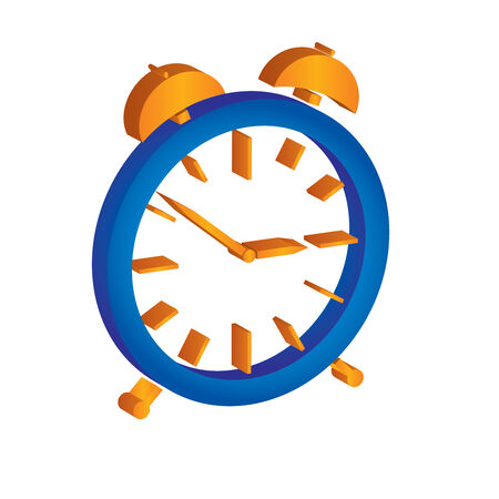 beep: Alarm clock illustration with white background Illustration