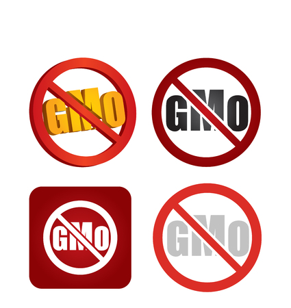 gm: Non genetically modifies plants, abstract icon for agriculture