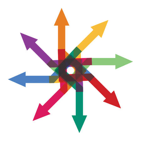 marc: Abstract illustration with simple arrows sign