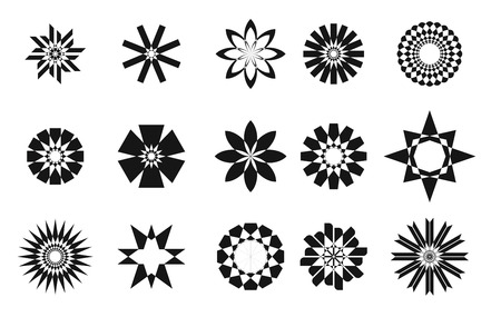 Star set collection, abstract isolated illustration on white background Vector