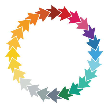 copy paste: Editable color wheel template with arrows and copy paste area