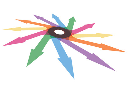 newest: Color arrows, abstract illustration for your design