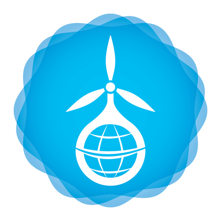 alternative energy sources: Wind power icon, illustration with abstract background