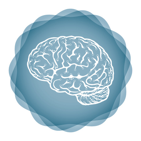 innovative: Innovative idea - template with abstract human brain illustration