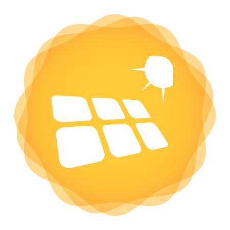 Pojęcie energii słonecznej szablon z abstrakcyjne ilustracji Ilustracje wektorowe