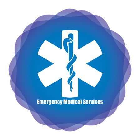 emergency sign: Medical emergency sign on abstract background for your design Illustration