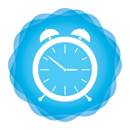 abstract alarm clock: Alarm clock icon on abstract background background, illustration for your design Illustration