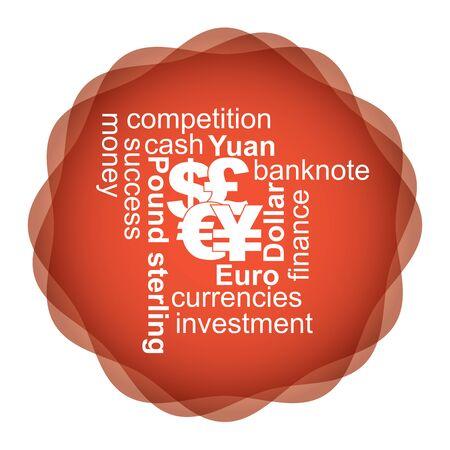 currencies: Major currencies, financial concept, illustration for your design