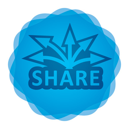 keywords advertise: Share icon, Communication concept for your design Illustration
