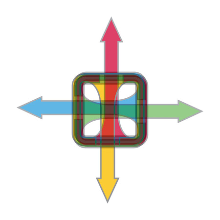 orientation marker: Color arrows, abstract illustration for your design
