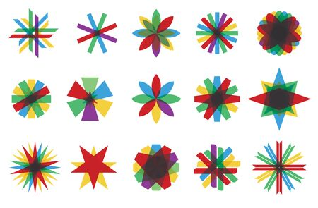 fro: Color icon set, isolated abstract illustration fro your design