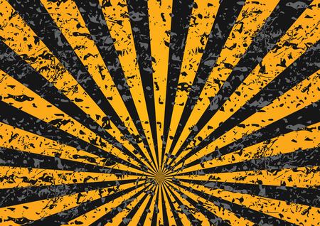 grunge pattern: Editable industrial background with grunge pattern and yellow lines Illustration