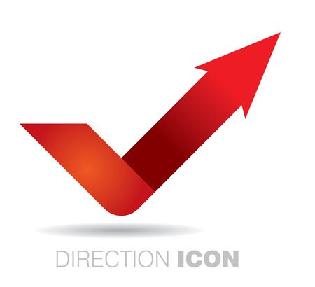 communication concept: Communication concept, abstract icon with arrow and circle