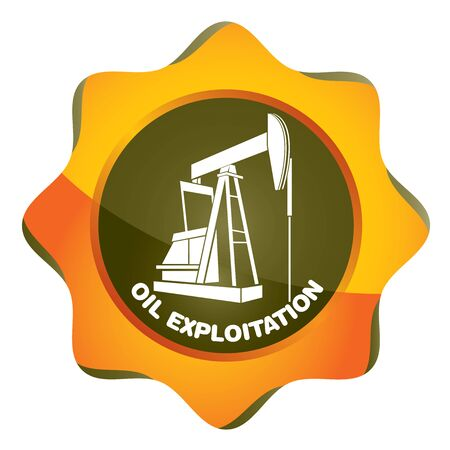 pumping: Oil exploitation station, pumping unit abstract illustration