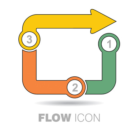 quoted: Business flow icon, abstract illustration with arrows