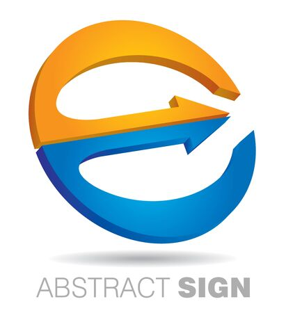 communication concept: Communication concept, abstract circle sign for template