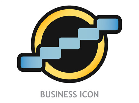 successfully: Business icon with graph, template for your presentation