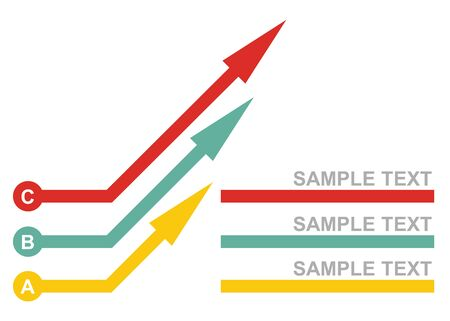 quoted: Graph of development, illustration with copy space area Illustration