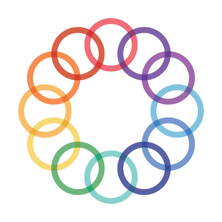 looped shape: Abstract graphics with color circle for your presentation design