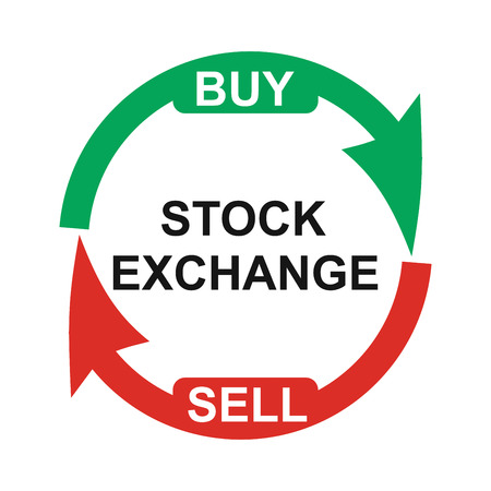 negotiable instrument: Stock exchange charts with abstract background and diagram