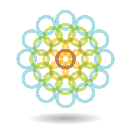 infinite shape: Abstract sign with color circle, template for  design
