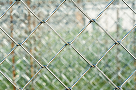 corroding: Metal mesh with blurred background, construction concept