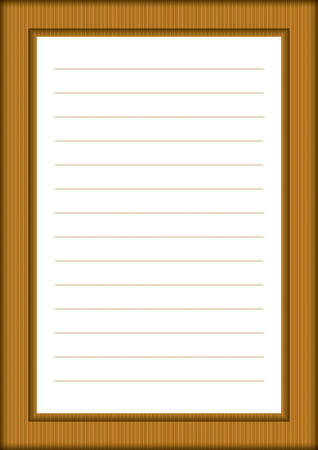 teared: A page of notepad with abstract decorative frame Illustration