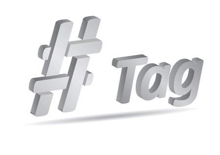 Hashtag, communication sign. Abstract illustration for your design. Illustration