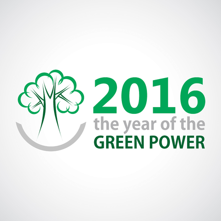 The year of Green Power. Vector illustration for your template Illustration
