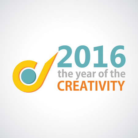 uniqueness: The year of Creativity. Vector illustration for your template Illustration