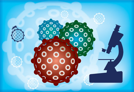 epidemy: Zika Virus with Alert. Abstract medical illustration. Illustration